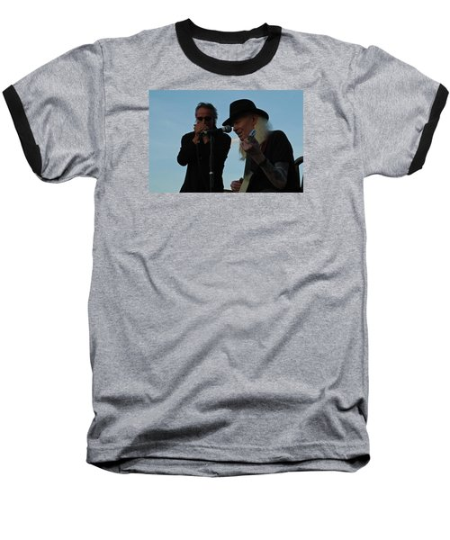 Baseball T-Shirt featuring the photograph Johnny Winter And James Montgomery Playing The Blues by Mike Martin
