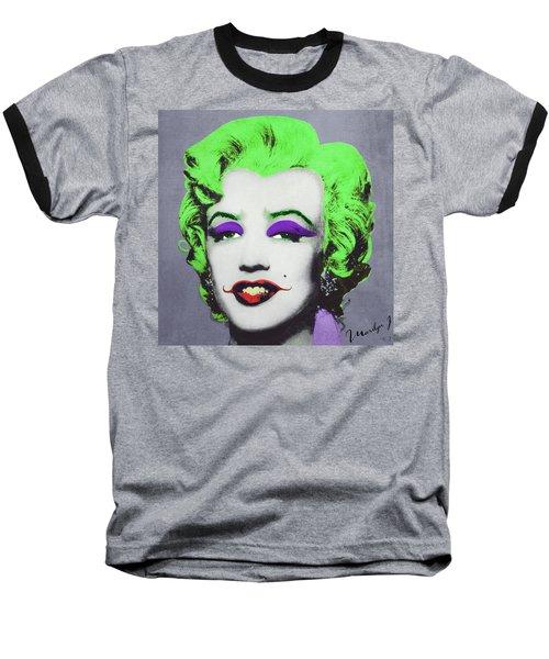 Joker Marilyn Baseball T-Shirt by Filippo B