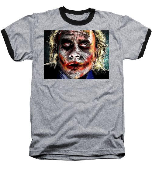 Joker Painting Baseball T-Shirt