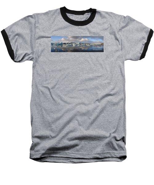 Jokulsarlon Glacier Lagoon Panorama Baseball T-Shirt by IPics Photography