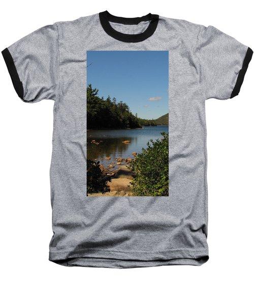 Baseball T-Shirt featuring the photograph Jordan Pond Bar Harbor Maine by Jennifer Wheatley Wolf