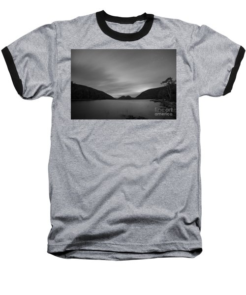 Jordan Pond Blue Hour Bw Baseball T-Shirt