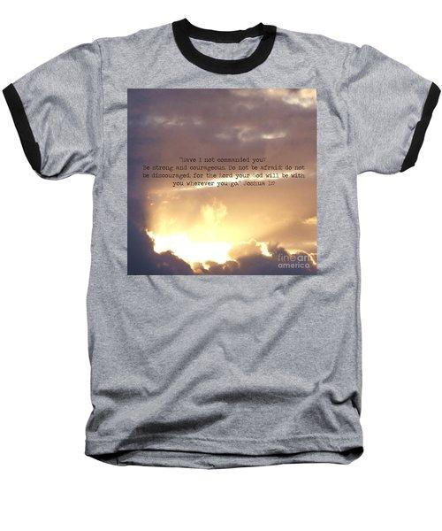 Joshua 1 Baseball T-Shirt by Andrea Anderegg
