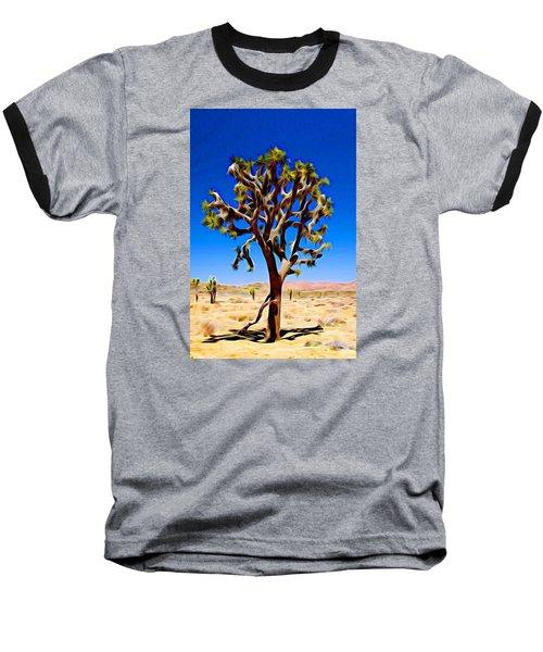 Joshua Tree Dark Baseball T-Shirt by Jeff Iverson