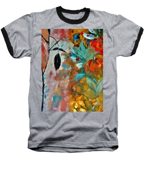 Baseball T-Shirt featuring the painting Joy by Lisa Kaiser
