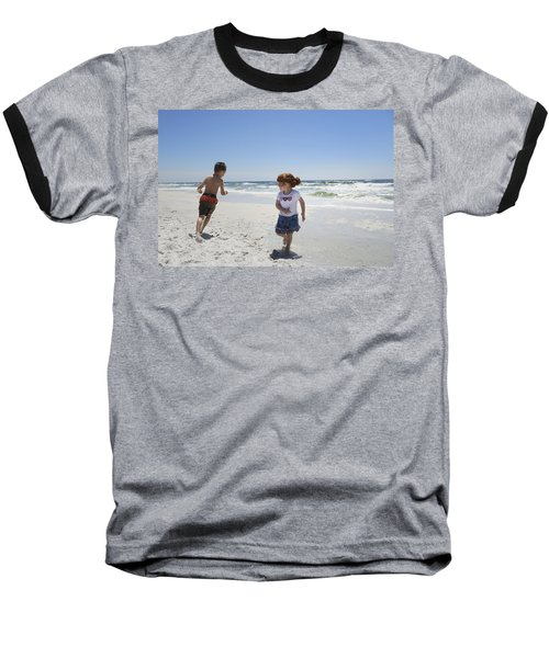 Joyful Play Of Children Baseball T-Shirt by Charles Beeler