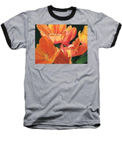 Julie's Tulips Baseball T-Shirt
