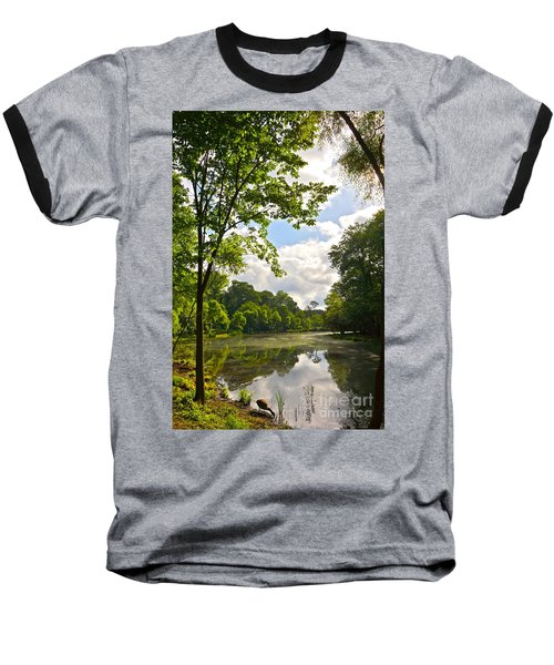 July Fourth Duck Pond With Goose Baseball T-Shirt