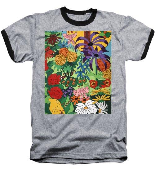July Garden Baseball T-Shirt