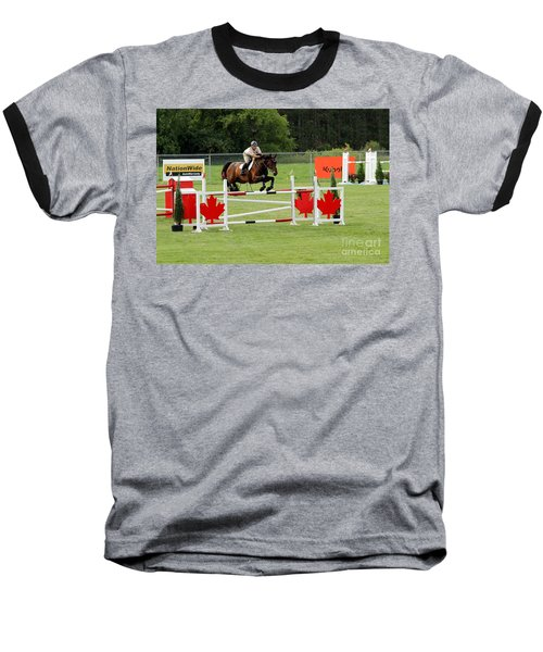 Jumping Canadian Fence Baseball T-Shirt