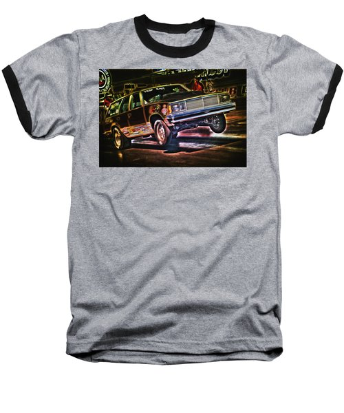Jumping Chevelle Baseball T-Shirt by Richard J Cassato