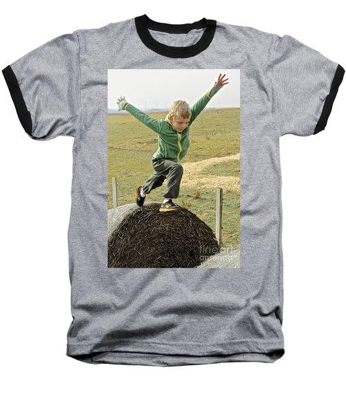 Jumping Haystacks Baseball T-Shirt