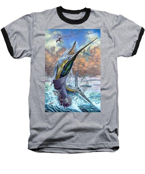 Jumping Sailfish And Flying Fishes Baseball T-Shirt