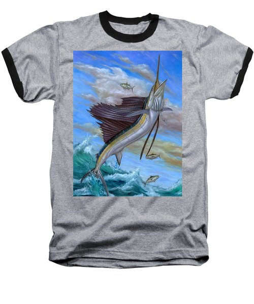 Jumping Sailfish Baseball T-Shirt