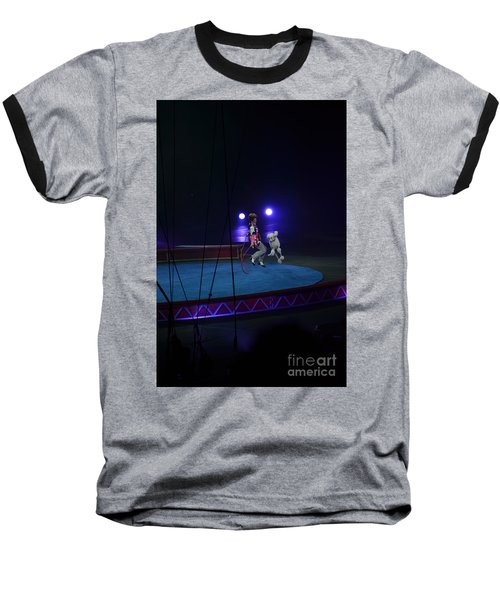 Baseball T-Shirt featuring the photograph Jumprope With Fido by Robert Meanor