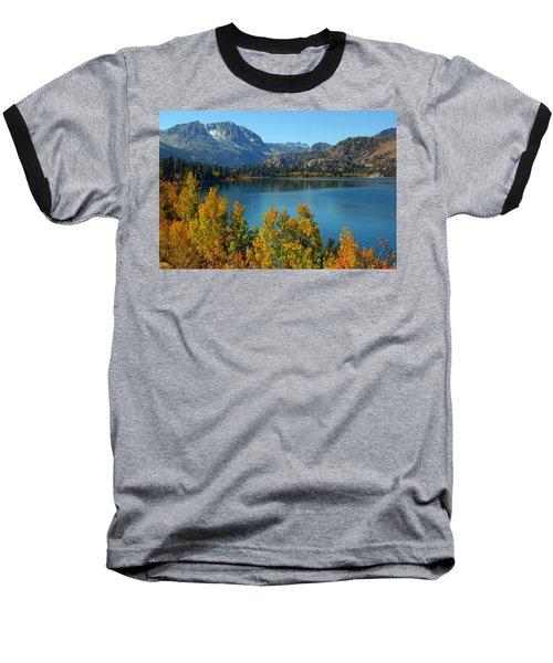 June Lake Blues And Golds Baseball T-Shirt by Lynn Bauer