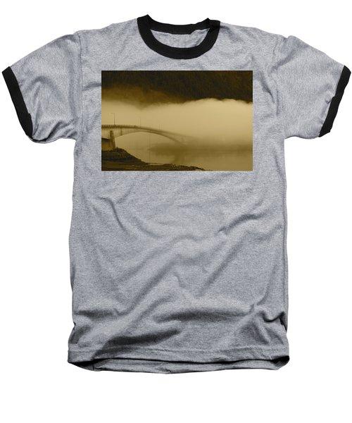 Juneau - Douglas Bridge Baseball T-Shirt by Cathy Mahnke