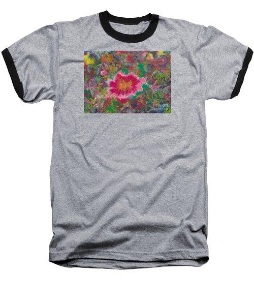 Jungle Flower Baseball T-Shirt