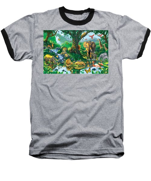 Jungle Harmony Baseball T-Shirt by Chris Heitt