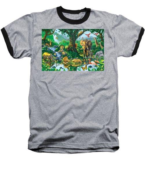 Jungle Harmony Baseball T-Shirt by Chris Heitt