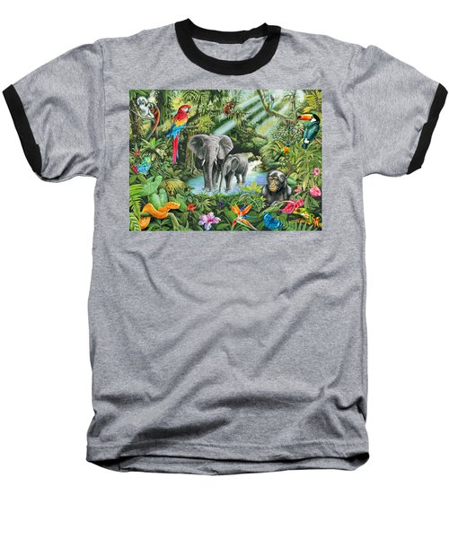 Jungle Baseball T-Shirt by Mark Gregory