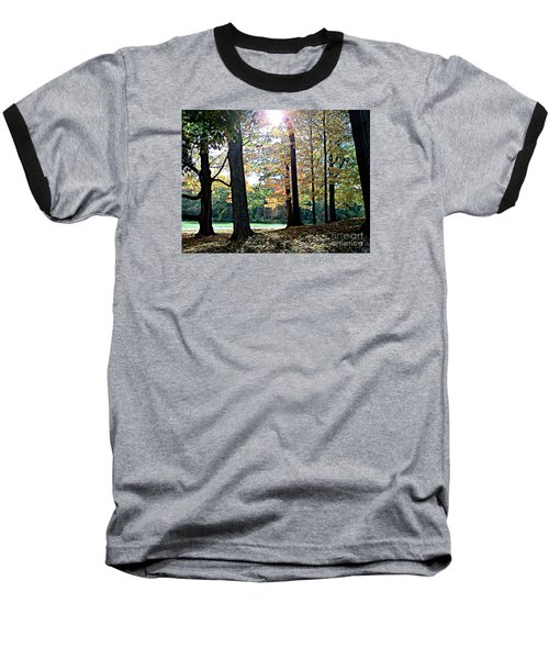 Just A Glimpse Of Sunlight Baseball T-Shirt by Rita Brown
