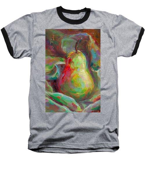 Just A Pear - Impressionist Still Life Baseball T-Shirt