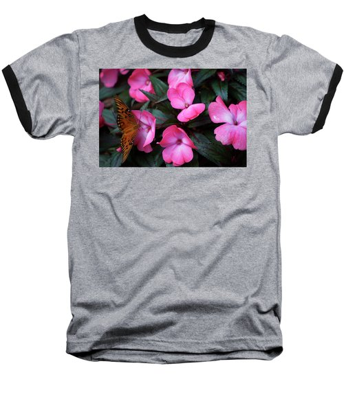 Baseball T-Shirt featuring the photograph Just A Small Taste For This Butterfly by Thomas Woolworth