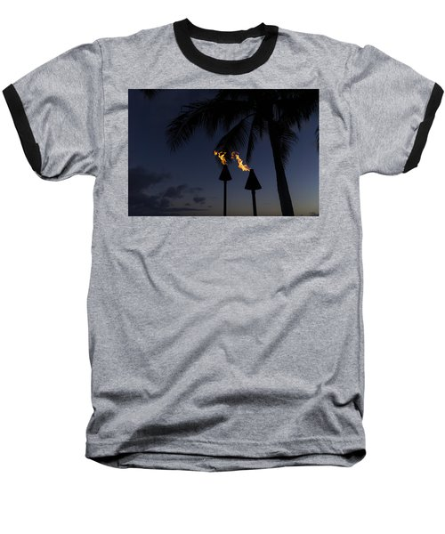 Just After Sunset The Beach Party Is Starting Baseball T-Shirt