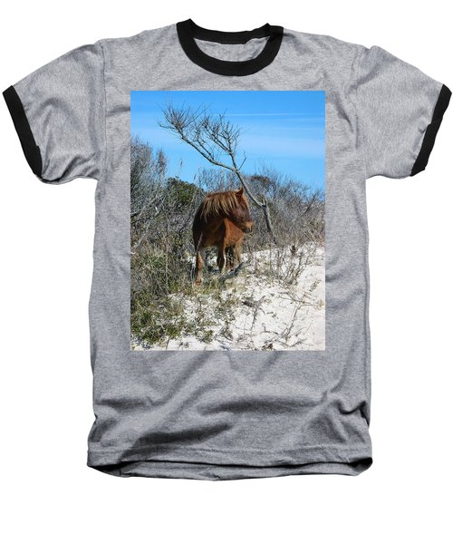 Baseball T-Shirt featuring the photograph Just Another Day At The Beach by Photographic Arts And Design Studio