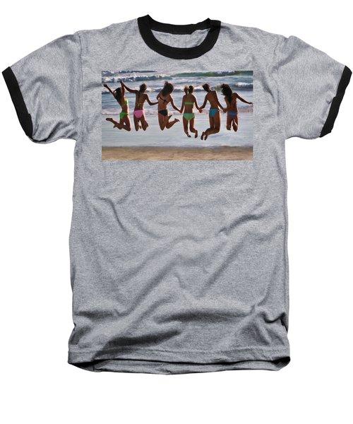 Just Jump Baseball T-Shirt by Tammy Espino