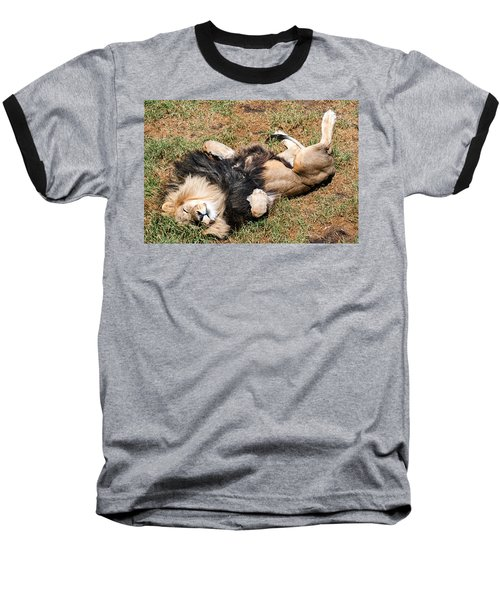 Just Lion Down Baseball T-Shirt