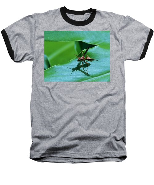 Baseball T-Shirt featuring the photograph Just Me And My Shadow by John Glass