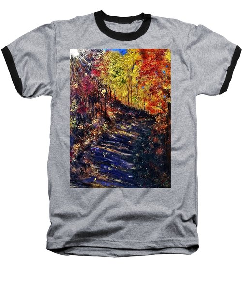 Baseball T-Shirt featuring the painting Just The Sound Of The Forest... by Cristina Mihailescu