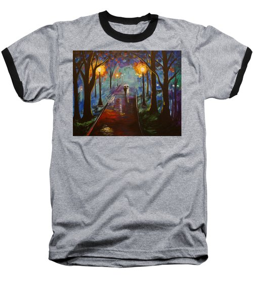 Just The Two Of Us Baseball T-Shirt by Leslie Allen