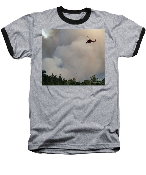Baseball T-Shirt featuring the photograph K-max Helicopter On Myrtle Fire by Bill Gabbert