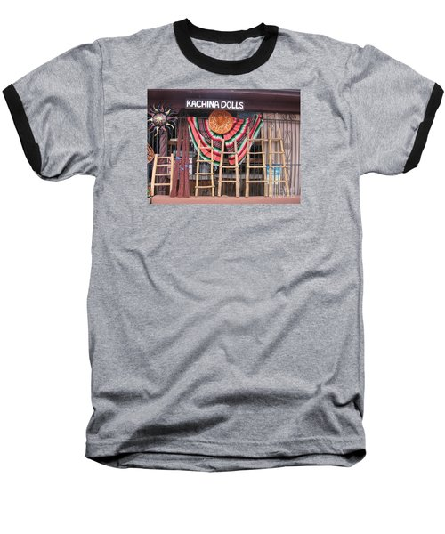 Baseball T-Shirt featuring the photograph Kachina Dolls Local Store Front by Dora Sofia Caputo Photographic Art and Design