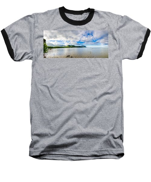 Kahaluu Fish Pond Panorama Baseball T-Shirt