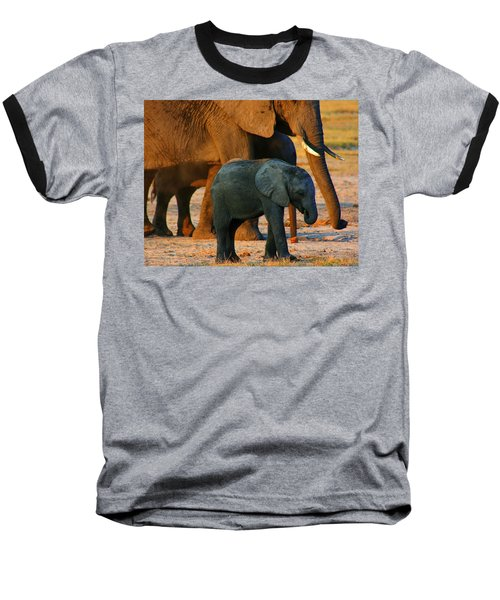 Baseball T-Shirt featuring the photograph Kalahari Elephants by Amanda Stadther