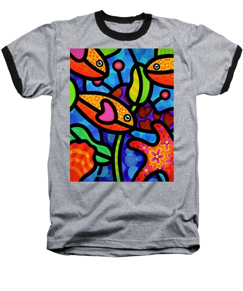 Kaleidoscope Reef Baseball T-Shirt