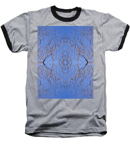 Kaleidoscope - Trees 1 Baseball T-Shirt by Andy Shomock