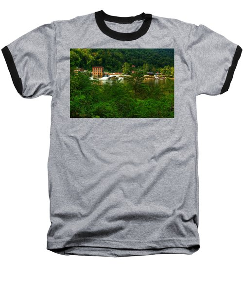 Kanawha Falls Baseball T-Shirt by Dave Files