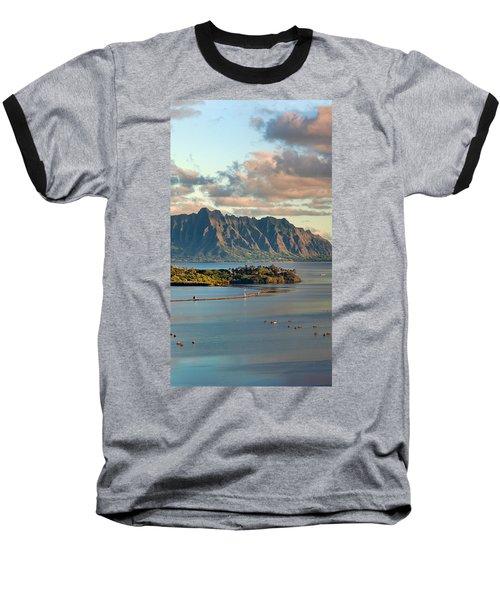 Kaneohe Bay Panorama Mural 2 Of 5 Baseball T-Shirt