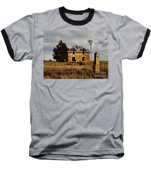 Baseball T-Shirt featuring the photograph Kansas Castle 1 by Lynne Wright