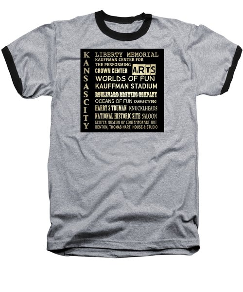 Kansas City Famous Landmarks Baseball T-Shirt