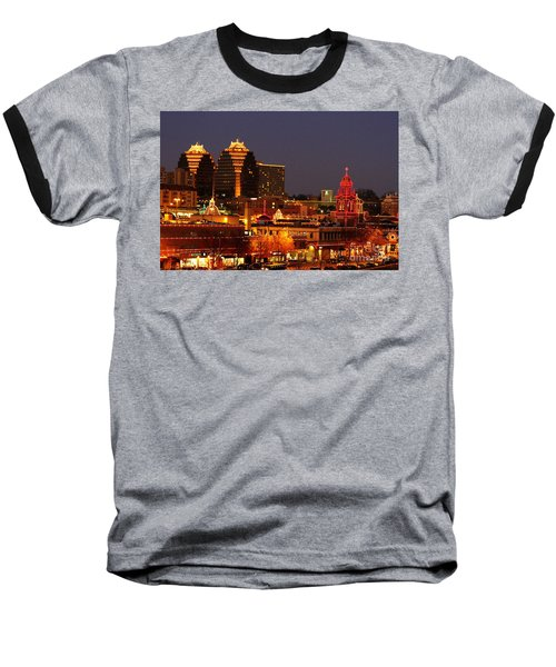 Kansas City Plaza Lights Baseball T-Shirt