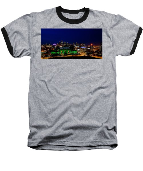 Kansas City Skyline Baseball T-Shirt