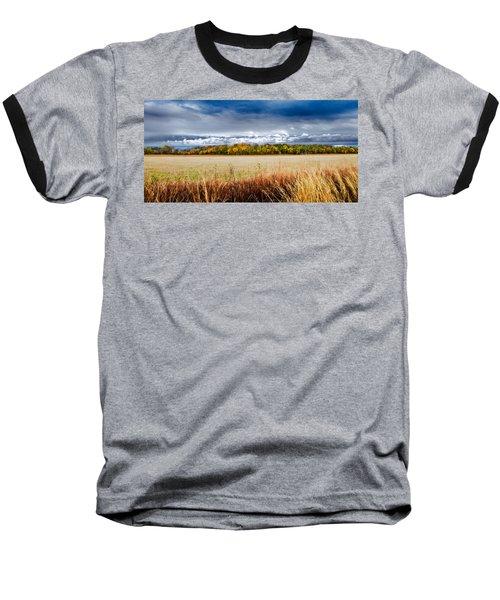 Kansas Fall Landscape Baseball T-Shirt