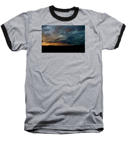 Baseball T-Shirt featuring the photograph Kansas Tornado At Sunset by Ed Sweeney