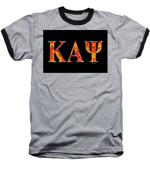 Baseball T-Shirt featuring the digital art Kappa Alpha Psi - Black by Stephen Younts